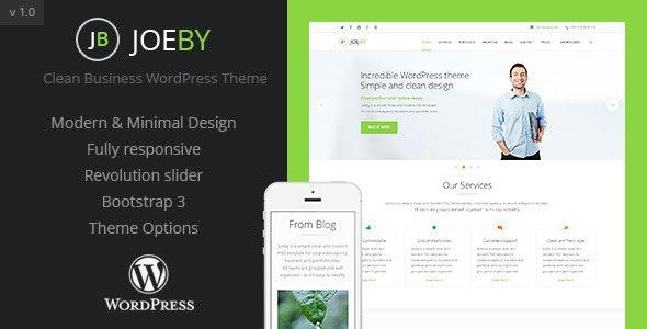 JoeBy Clean Business WordPress Theme - Business Corporate