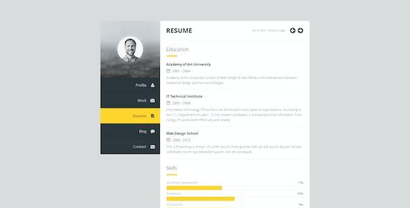 Premium Layers: HTML vCard & Resume Template