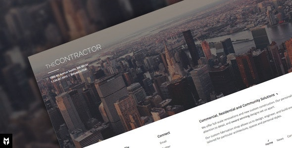 The Contractor: Construction Company WP Theme - Business Corporate