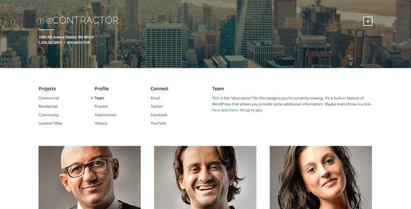 The Contractor: Construction Company WP Theme