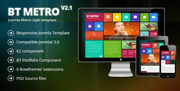 BT Metro - Responsive joomla 3.0 template - Creative Joomla