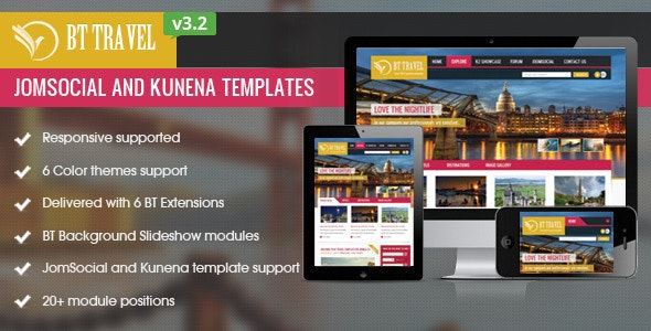 BT Travel - Jomsocial and Kunena Template by bowthemes | ThemeForest