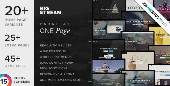 BigStream - One Page Multi-Purpose Template - Creative Site Templates