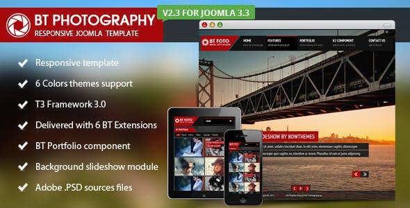 BT Photography Joomla Template