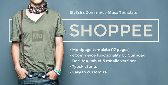 Shoppee - Stylish eCommerce Muse Template - eCommerce Muse Templates