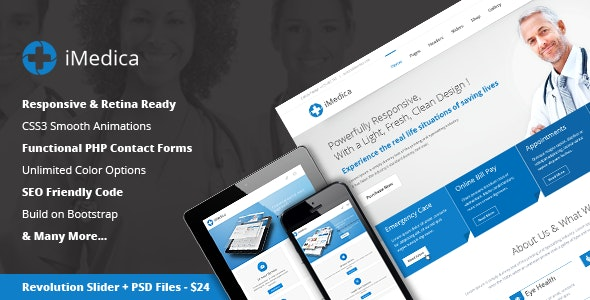 iMedica - Flat, Responsive Medical & Health Template - Health & Beauty Retail