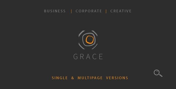 Grace – Single & Multipage Theme - Corporate Muse Templates