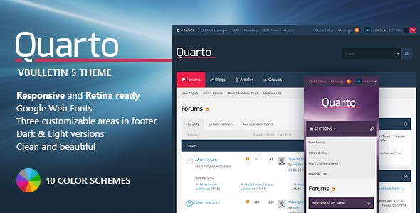 Download Quarto — vBulletin 5 Responsive Retina Ready Theme