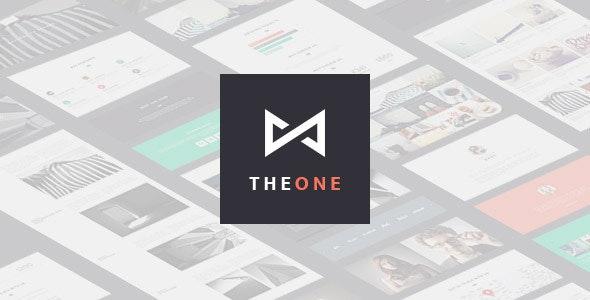 THEONE -  Parallax Onepage WordPress Theme - Portfolio Creative