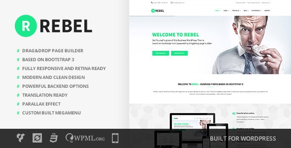Rebel - WordPress Business Bootstrap Theme - Business Corporate
