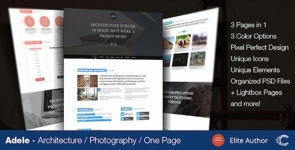 Adele One Page Parallax Fullscreen Portfolio PSD