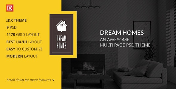 Dream Home-An Awesome IDX Psd Theme - Business Corporate