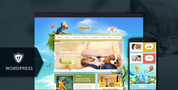 Paws & Claws - Pet WordPress Theme - Children Retail