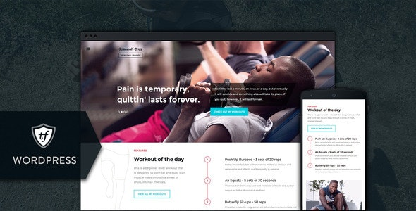 In Shape - Fitness WordPress Theme - Health & Beauty Retail
