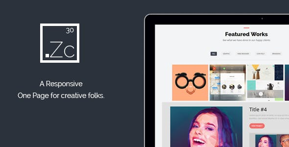 Zinc : Responsive One Page HTML Template