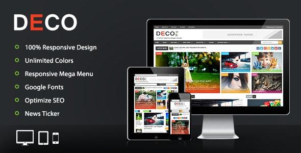 Deco Mag - Responsive Magazine Blogger Template - Blogger Blogging