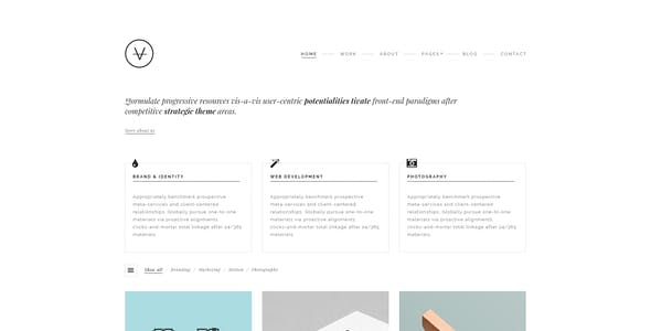 VAN - Agency / Portfolio PSD Template