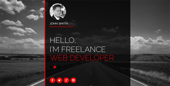 Redline Personal Muse Web Template - Personal Muse Templates