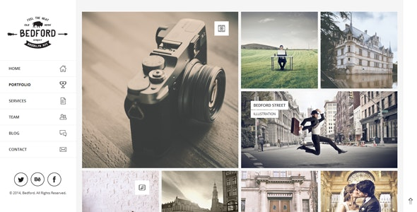 Bedford – Modern Portfolio  Drupal Theme - Portfolio Creative