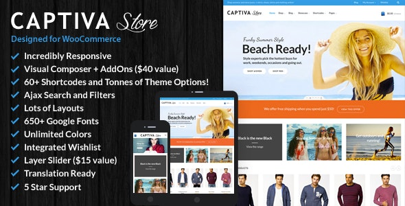 Captiva - Responsive WordPress WooCommerce Theme - WooCommerce eCommerce