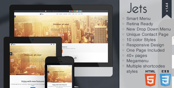 Jets - Responsive HTML5 Template - Business Corporate
