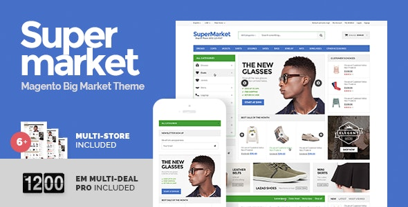 Supermarket & Deal - Responsive Magento theme - Shopping Magento