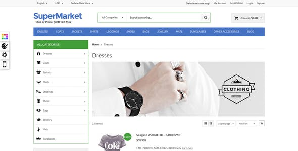 Supermarket & Deal - Responsive Magento theme