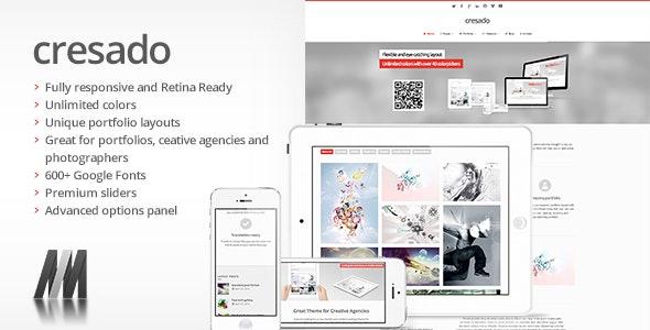 Cresado WP - Responsive Theme for Creatives - Portfolio Creative