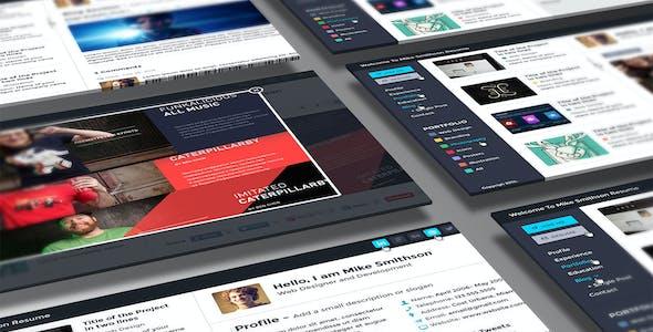 Tiny - Online Professional Resume PSD