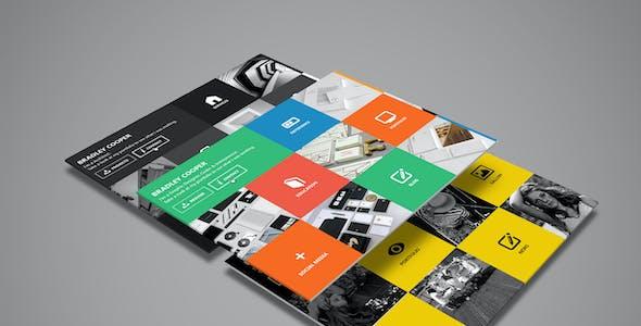 Cooper- Multicolor Flat Professional Resume PSD