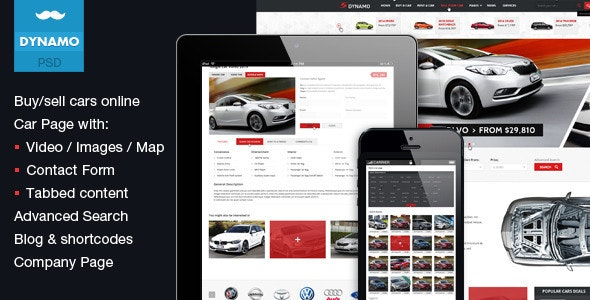 Sell Car Online >> Dynamo Sell Buy Rent Cars Online Psd By Mustachethemes