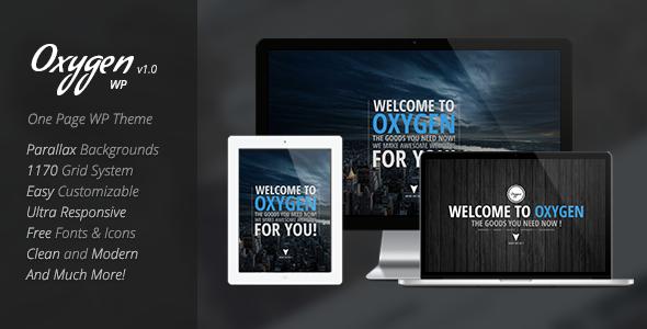 Oxygen - One Page Parallax WordPress Theme - Portfolio Creative