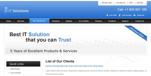 Clean Business Website - Business Corporate