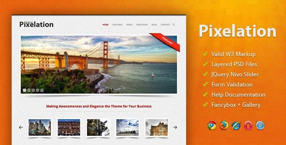 Pixelation - Creative Site Templates