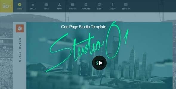 StudioO1 | One Page Multi Purpose Template - Portfolio Creative
