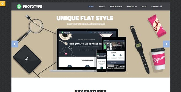 Prototype - Flat Wordpress Theme