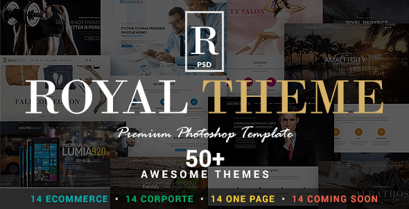 Royal - Corporate and E-Commerce PSD Theme - Retail Photoshop
