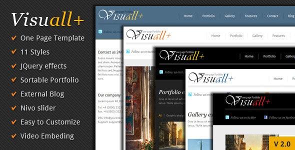 Visuall+ One Page Portfolio - Portfolio Creative
