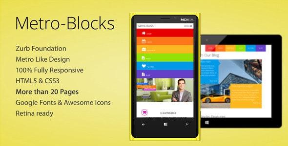 Metro-Blocks - Multi-Purpose HTML5 SASS Theme - Corporate Site Templates