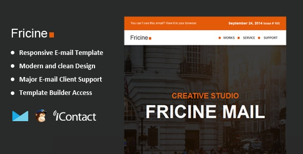 Fricine - Responsive Email + Themebuilder Access  - Email Templates Marketing