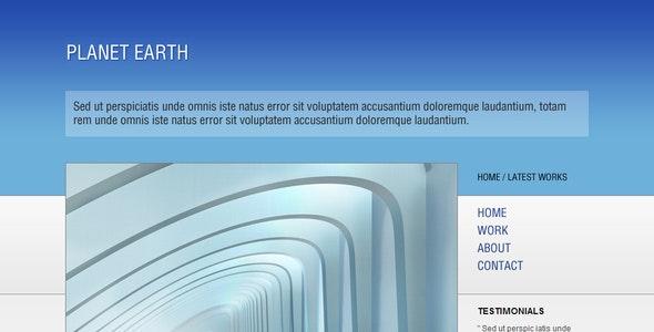 Planet Earth: The Sky - HTML Portfolio Template - Portfolio Creative