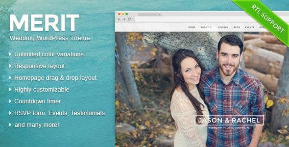 Merit - Responsive WordPress Wedding Theme - Wedding WordPress