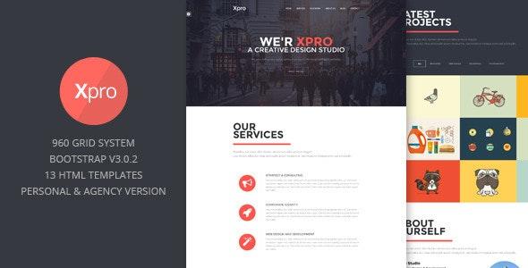 Xpro - Onepage Multipurpose Bootstrap HTML - Portfolio Creative
