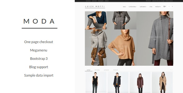 Moda Opencart Theme - Fashion OpenCart