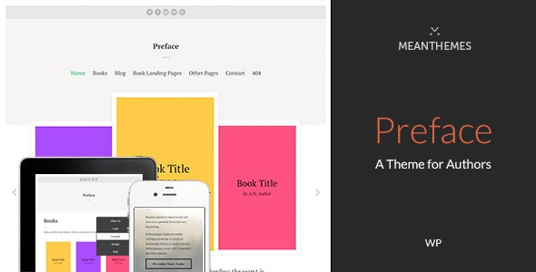 Preface: A WordPress Theme for Authors - Marketing Corporate