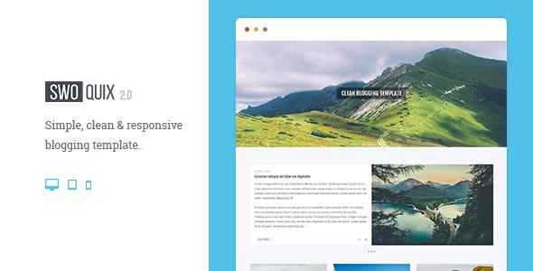 Swoquix — Clean Blogging Theme - Site Templates