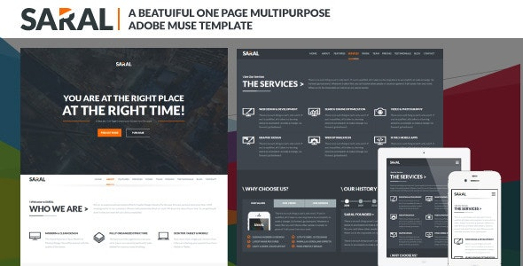 Saral: Animated Parallax Muse Template by VMS-Designs