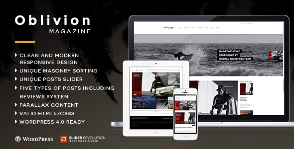 Oblivion - Wordpress Magazine Theme - Blog / Magazine WordPress