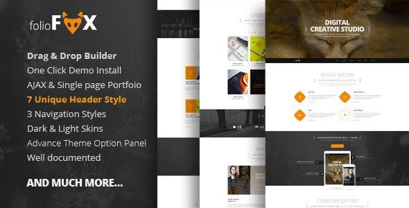 Folio Fox - One page Multi Purpose WordPress Theme - Creative WordPress