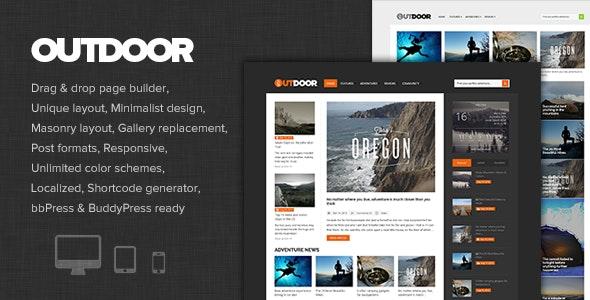 Outdoor - Responsive Adventure Blog and Magazine - Personal Blog / Magazine